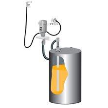 Пневматический комплект для масла для бочек 205 л с насосом PM35 51, монтаж на стену