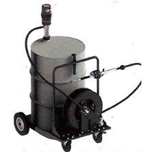 Комплект с насосом 5.51 для бочки 200 л на тележке и катушкой