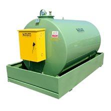 Стальной резервуар для бензина, объёмом 1000 л, укомплектован насосом для бензина Ех-50 230 Вольт,
